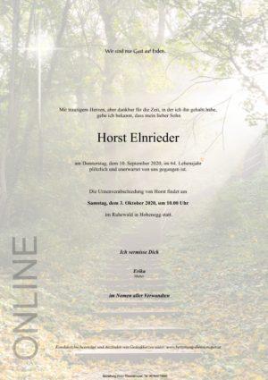 Portrait von Horst Elnrieder