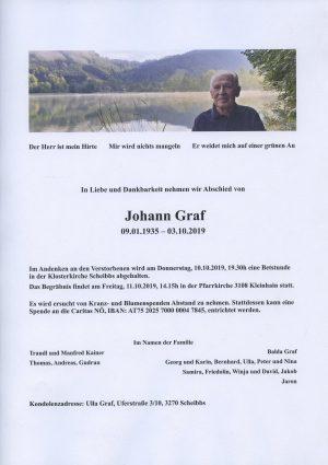 Portrait von Johann Graf