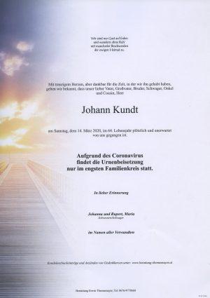 Portrait von Johann Kundt