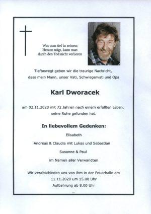 Portrait von Karl Dworacek